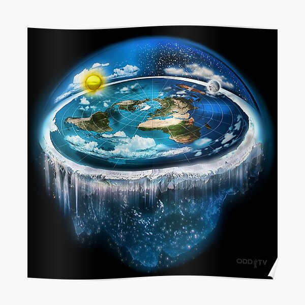 Flat Earth with Dome Art Poster