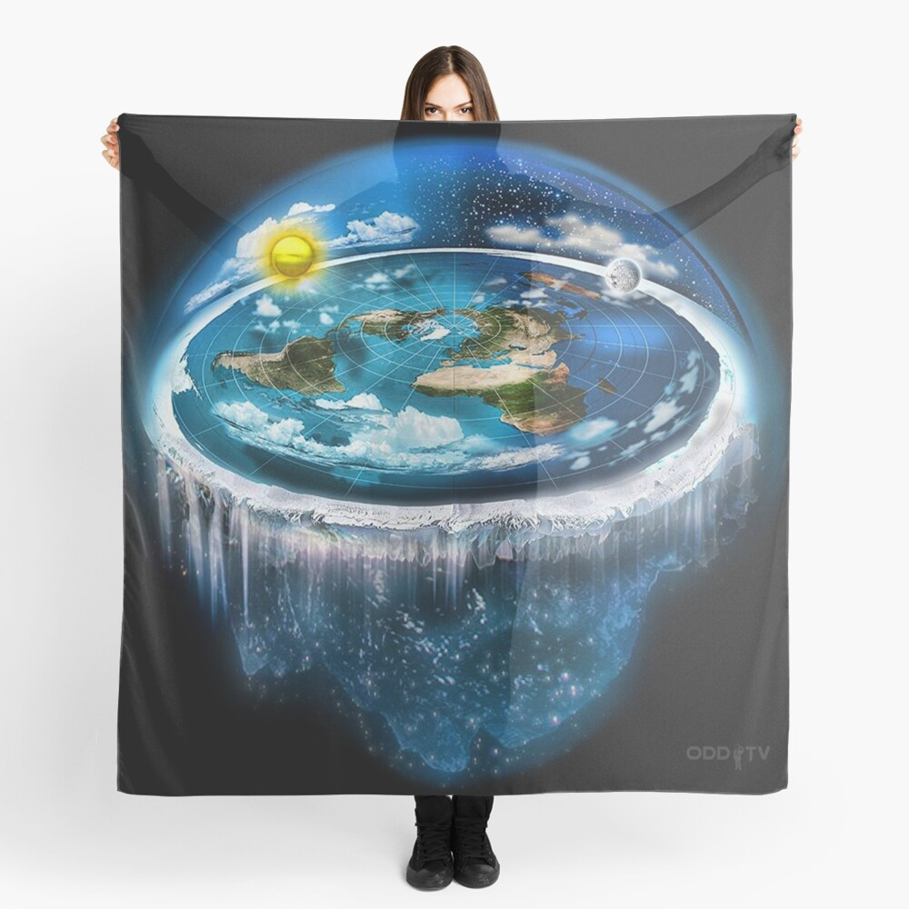 Flat Earth with Dome Art Scarf