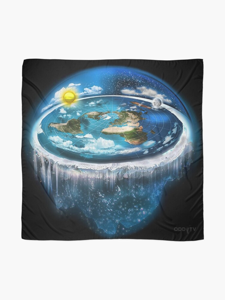 Alternate view of Flat Earth with Dome Art Scarf