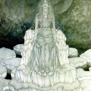 The Snow Queen on her Throne - Edmund Dulac by forgottenbeauty