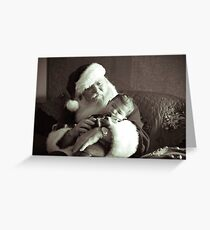 Santa and Babe Greeting Card