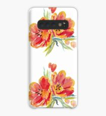 Tulips in watercolour Case/Skin for Samsung Galaxy