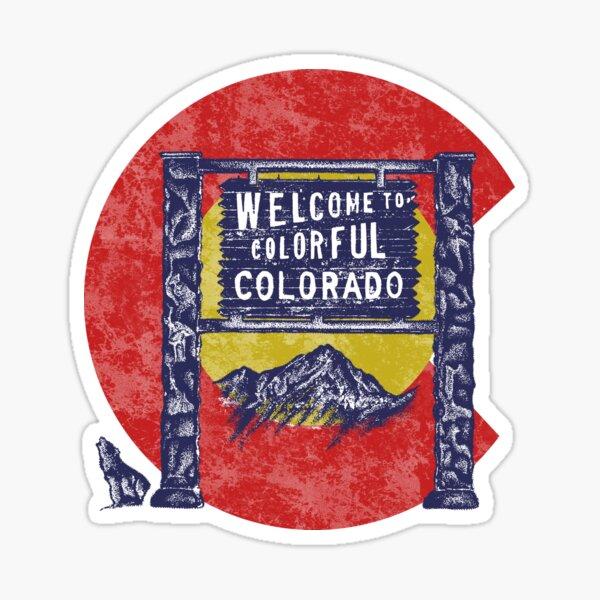vintage colorado Sticker