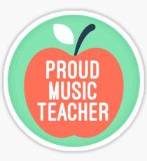 Proud music teacher Sticker