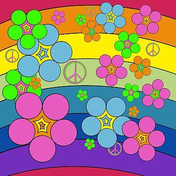 Flower Power Rainbow by Sheri42