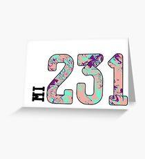 231 Greeting Card