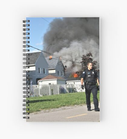 House Fire  Spiral Notebook