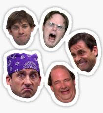 The Office Faces Sticker Pack Sticker