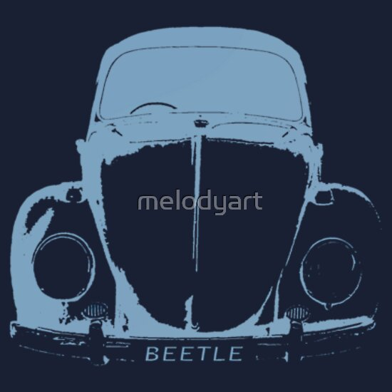 TShirtGifter presents: VW Beetle Shirt -  Light Blue