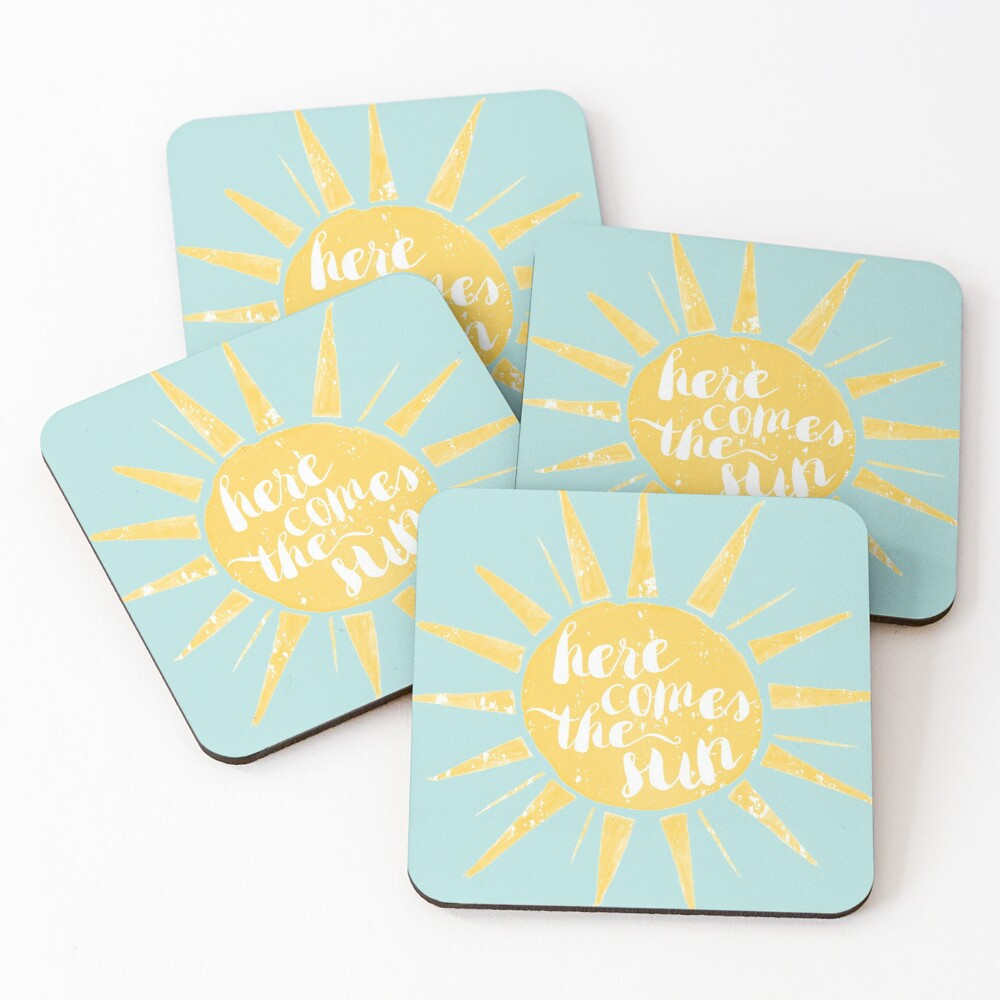 Here Comes the Sun Coasters (Set of 4)