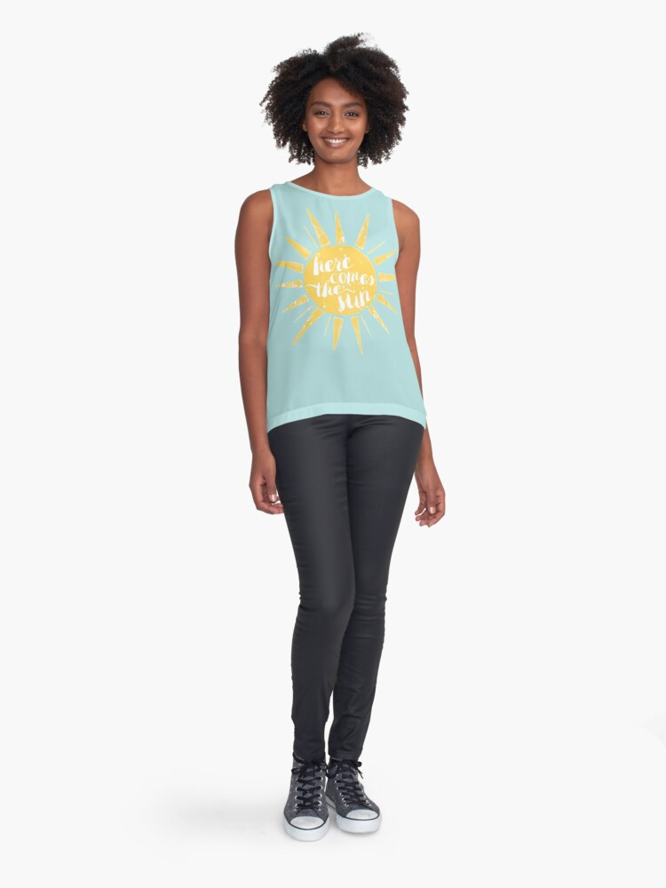 Alternate view of Here Comes the Sun Sleeveless Top