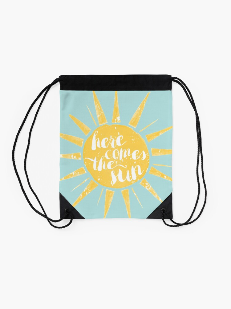 Alternate view of Here Comes the Sun Drawstring Bag
