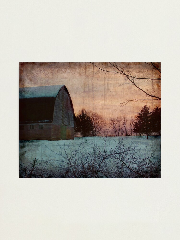 Alternate view of Winter Barn Photographic Print
