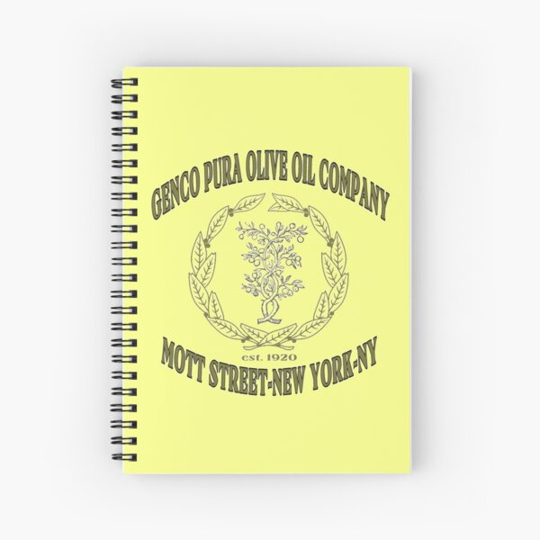 Genco Pura Olive Oil Company Spiral Notebook