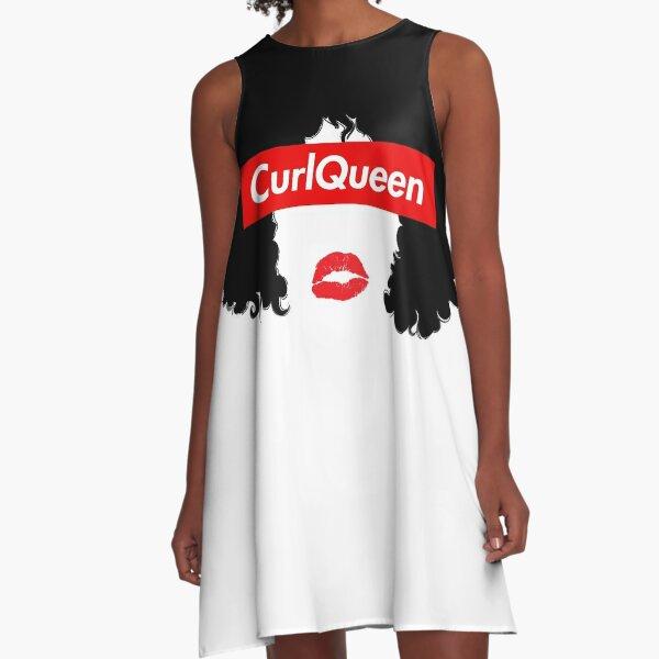 CurlQueen Natural Hair Apparel A-Line Dress