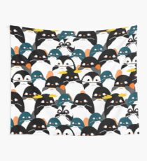 Chubby Penguin Pattern Wall Tapestry