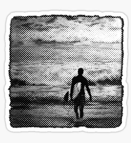 Heading Out - B&W Halftone Sticker