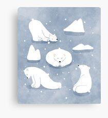 patterns Everyday | Yoga Bears Canvas Print