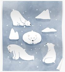 patterns Everyday | Yoga Bears Poster