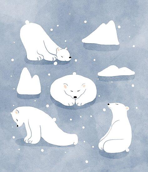 patterns Everyday | Yoga Bears by jjsgarden