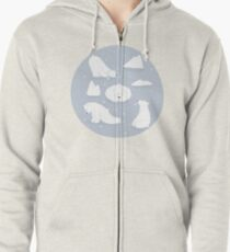 patterns Everyday | Yoga Bears Zipped Hoodie