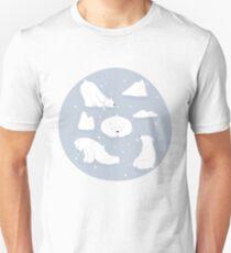Muster Alltäglich | Yoga-Bären Unisex T-Shirt