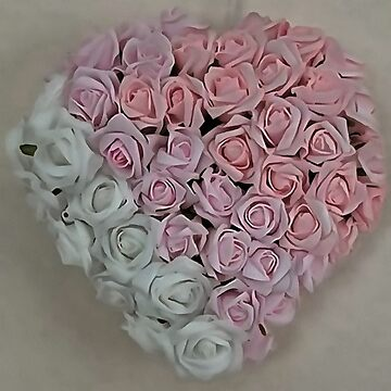 Heart Of Pink and White Roses by taiche
