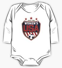 USA Women's Soccer National Shield seit 1985 Baby Body Langarm