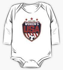 USA Women's Soccer National Shield seit 1985 Baby Body Langarm