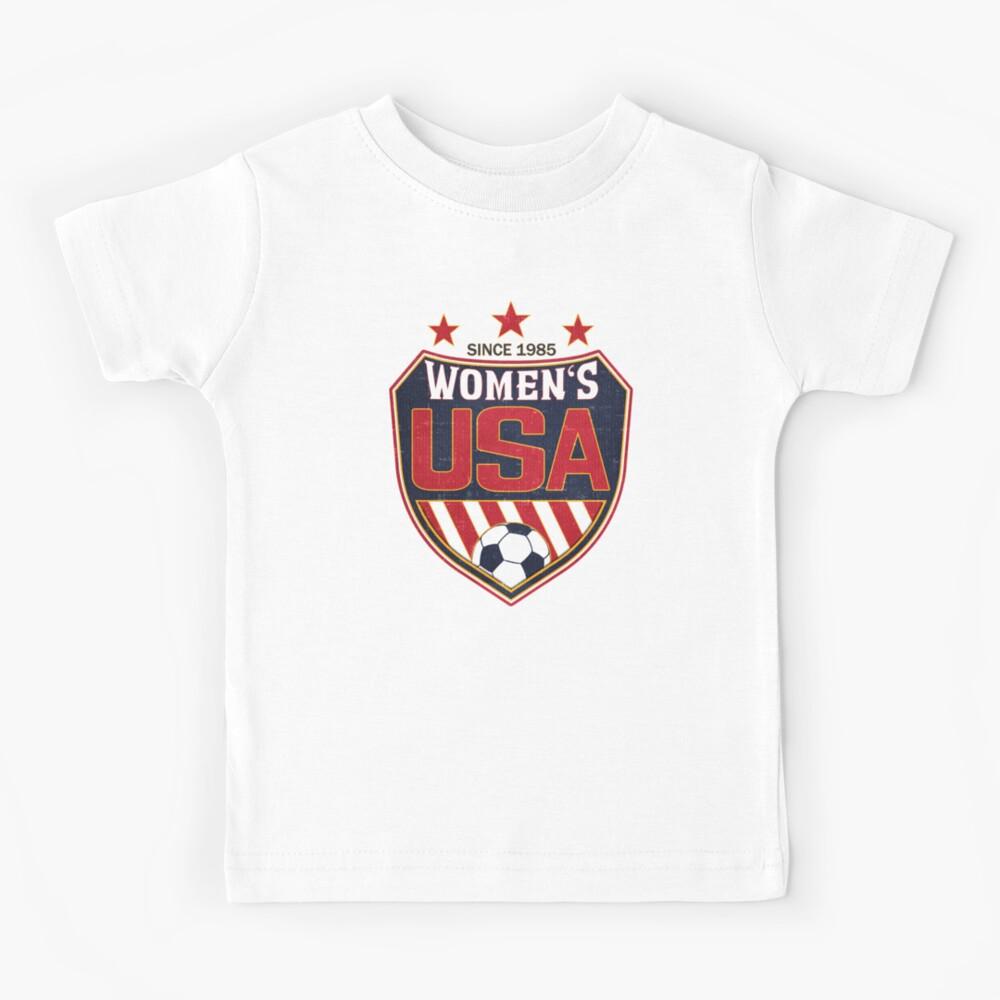 USA Women's Soccer National Shield seit 1985 Kinder T-Shirt