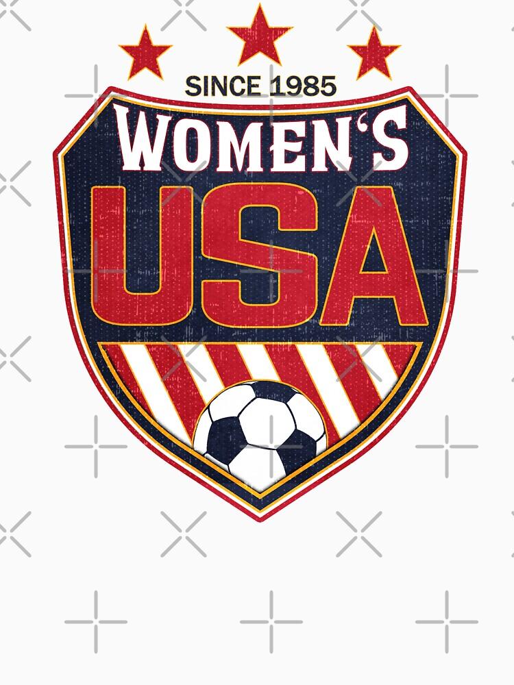 Escudo Nacional de Fútbol Femenino de Estados Unidos desde 1985 de fermo
