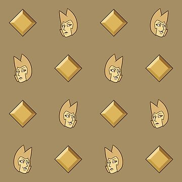 Steven Universe - Yellow Diamond Repeating Pattern by Galaxxi