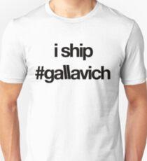 je expédie #gallavich (noir avec bg blanc) T-shirt unisexe