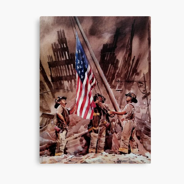 9/11 NYPD and FDNY, Heroes of our Time Canvas Print