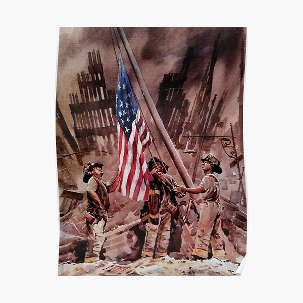 9/11 NYPD and FDNY, Heroes of our Time Poster