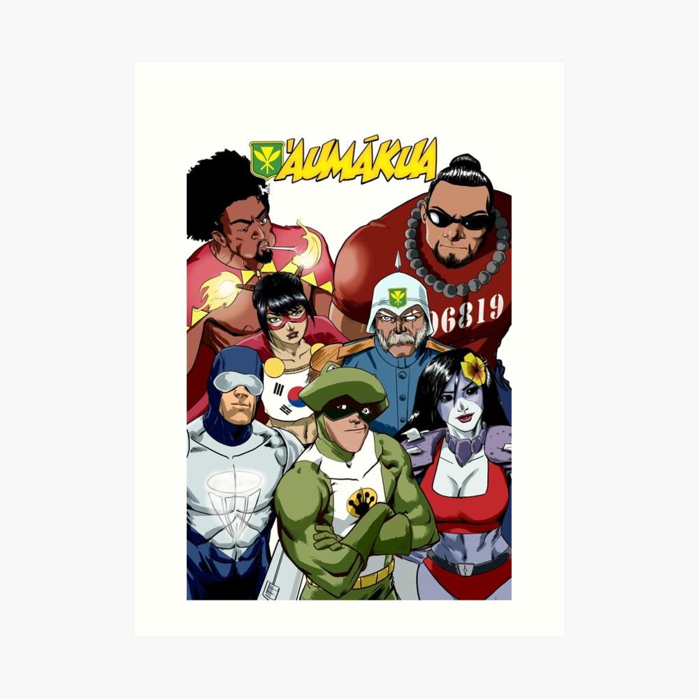 AuMakua - Superheroes from Hawaii Art Print