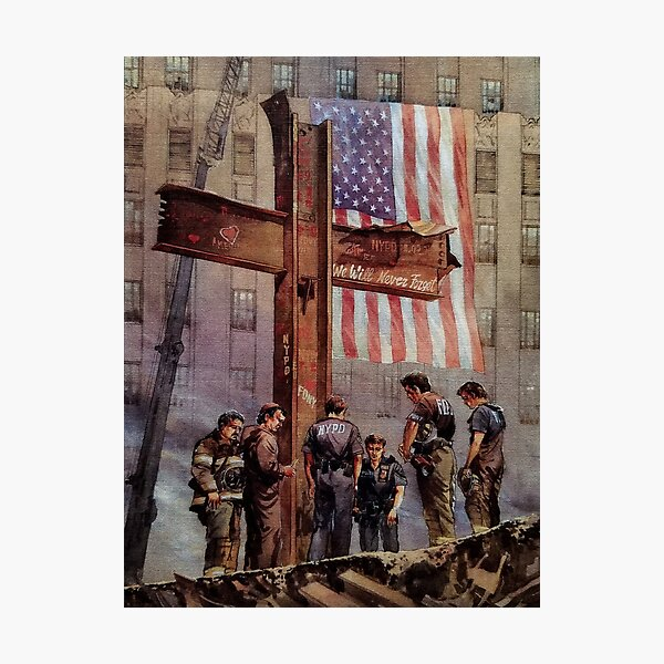 9/11 NYPD and FDNY, Heroes of our Time Photographic Print