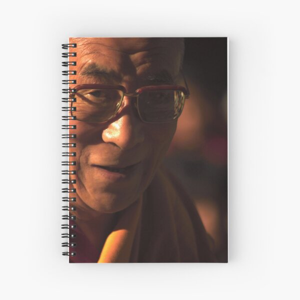 His Holiness. mcleod ganj, dharamsala, india Spiral Notebook