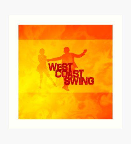 West Coast swing Art Print