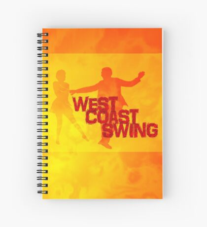 West Coast swing Spiral Notebook