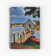 """""""Lunch Over The Lake"""" Spiral Notebook"""