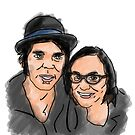 Katie Cooper and Gaz Coombes Illustration by StevePaulMyers