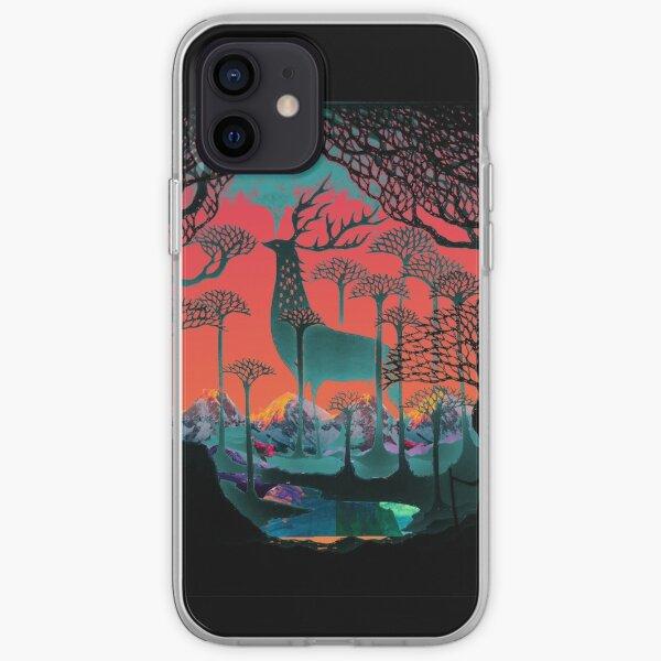 Esprit de la forêt - Illustration des terres boisées Coque souple iPhone