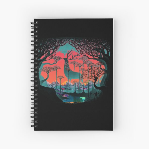 Forest Spirit - Woodland Illustration Spiral Notebook