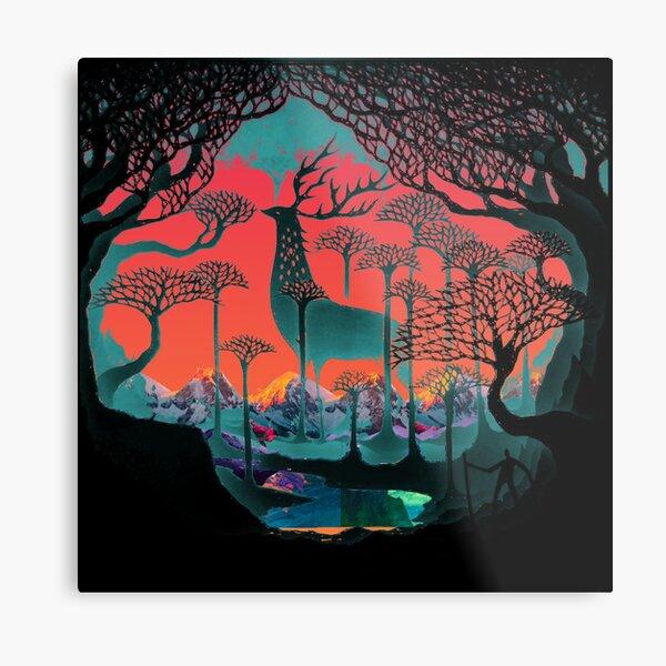Forest Spirit - Woodland Illustration Metal Print