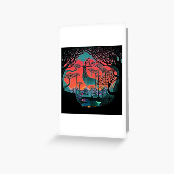 Forest Spirit - Woodland Illustration Greeting Card