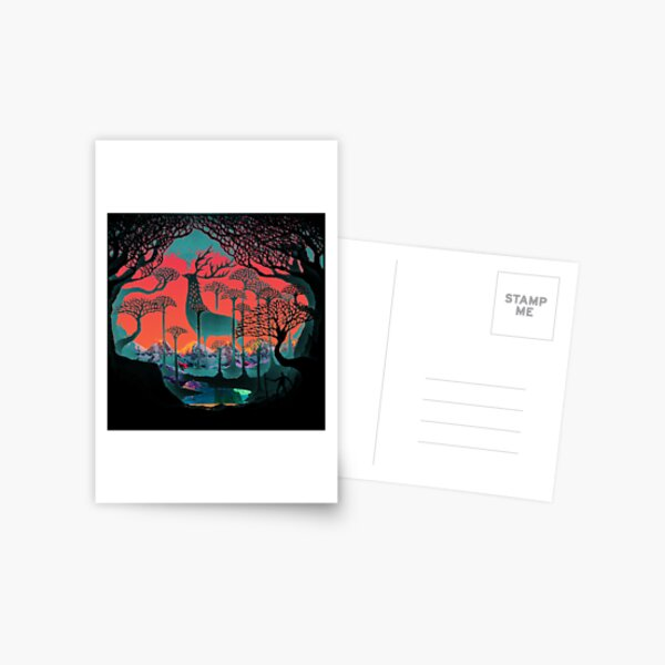 Forest Spirit - Woodland Illustration Postcard