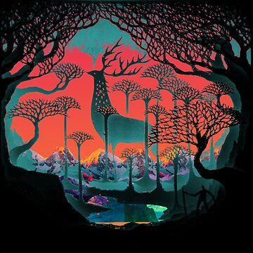 Forest Spirit - Woodland Illustration by WishingInkwell
