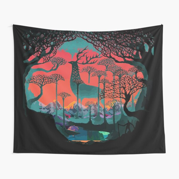 Forest Spirit - Woodland Illustration Tapestry