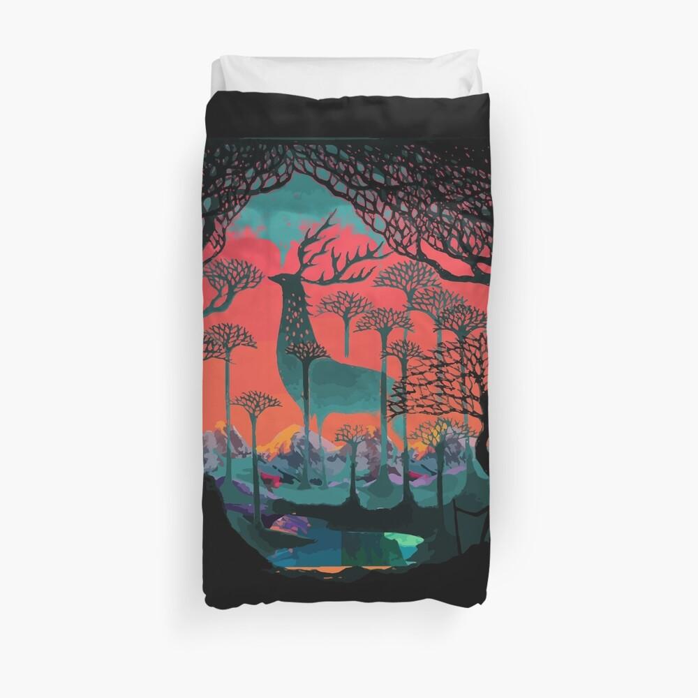 Forest Spirit - Woodland Illustration Duvet Cover